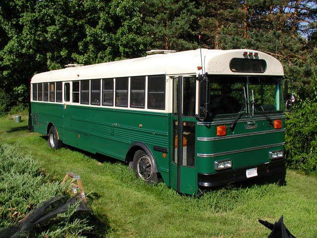 School Bus RV Conversion Finished Exterior