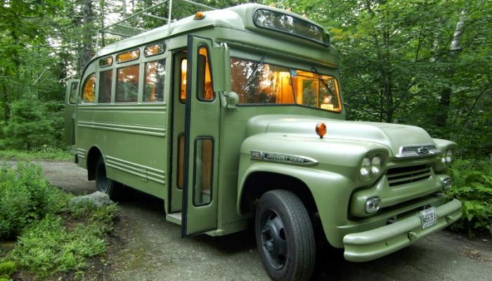 1959 Chevrolet Viking Short Bus Converted Into A Mobile Bedroom