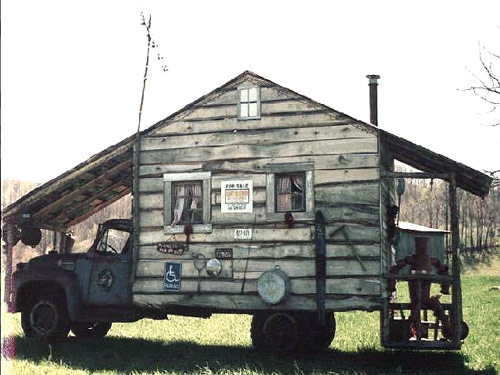 Funny RV:  Moonshiner or Mobile Antique Store?