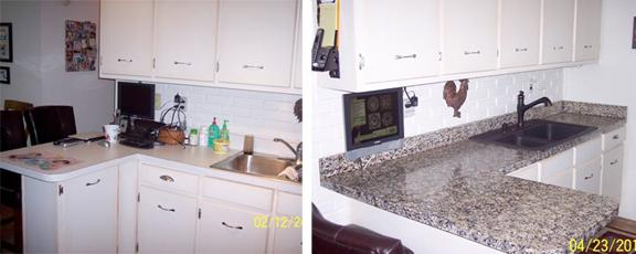 Countertop Paint Before And After : Before and After