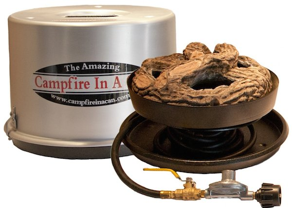 Campfire In A Can portable propane outdoor fire pit