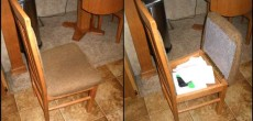RV Storage Ideas: Dining Chair RV Mod