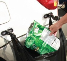 RV trash can BagRack