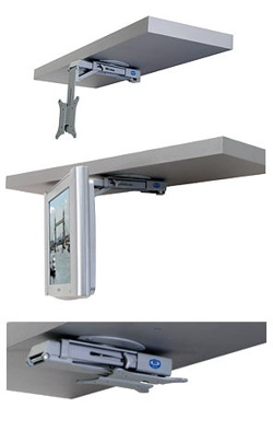 under cabinet tv mount rv tv mounts a simple guide which works best for you 27542