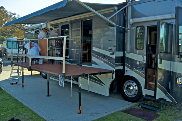 Portable Rv Deck : The answer to a truly portable rv deck or patio