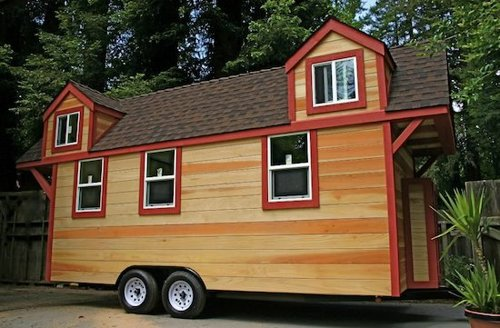 Tiny House Trailer Rv House Made Of Redwood Custom Fold