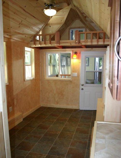 Tiny House Interior: Tiny House Trailer: RV House Made Of Redwood