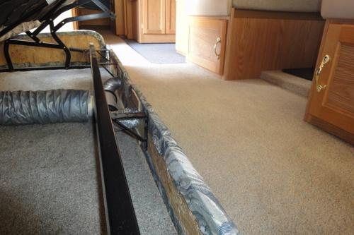 Rv Heating Mod Unused Furnace Duct Redirected To Keep