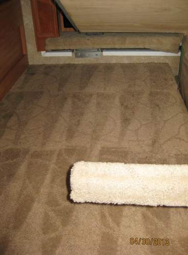 Carpet dyeing in an RV