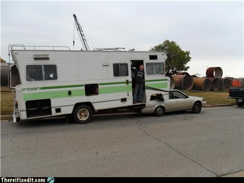 funny rv convert a motorhome into a fifth wheel. Black Bedroom Furniture Sets. Home Design Ideas