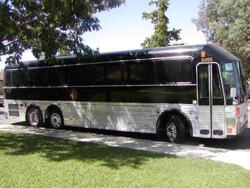 Motorhome conversion from greyhound bus to luxury motorcoach for Motor coaches with 2 bedrooms