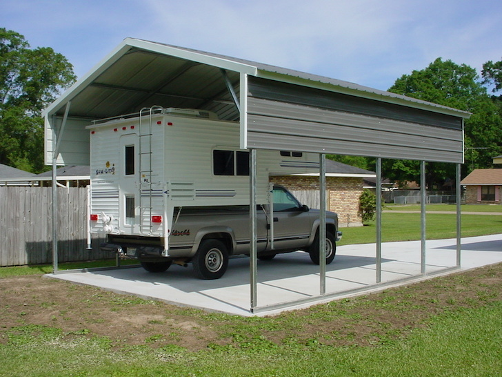 Rv carport and garage options customizations and costs for Carport construction costs