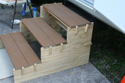diy wood steps 1