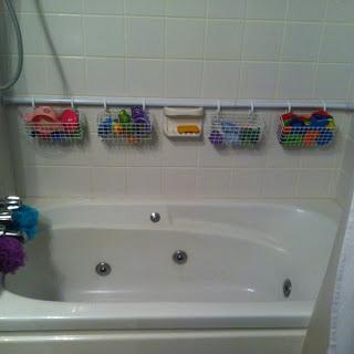 rv bathtub storage turn a spare shower rod into modular