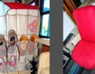 DIY Motorhome Seat Back Organizer Mod + Bonus Seat Cover