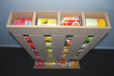 DIY RV Food Storage Can Dispenser Keep The Pantry Organized