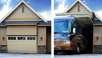 One of a Kind RV Garage: 8 Foot Tall Door That Any RV Can Fit Through