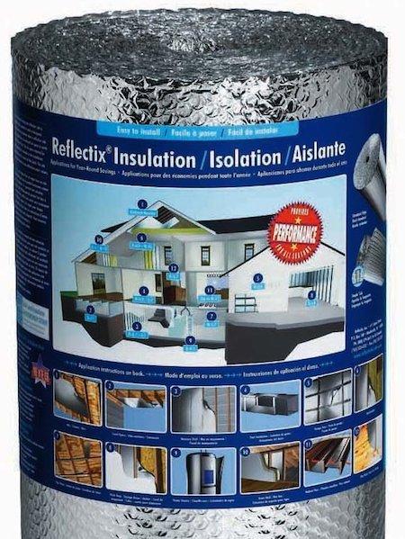 Reflectix reflective insulation