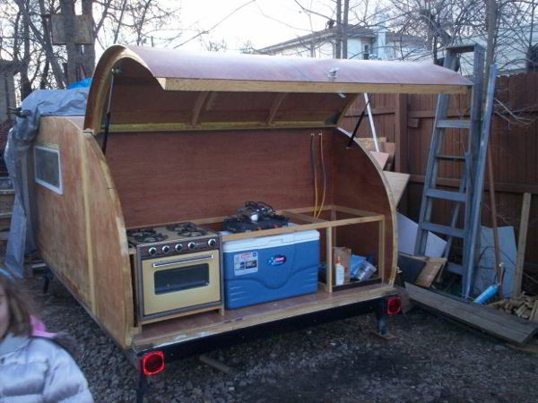 Build It Yourself Campers Build It Yourself Cabin Kits: Simply Designed DIY Teardrop Trailer Built From Scratch