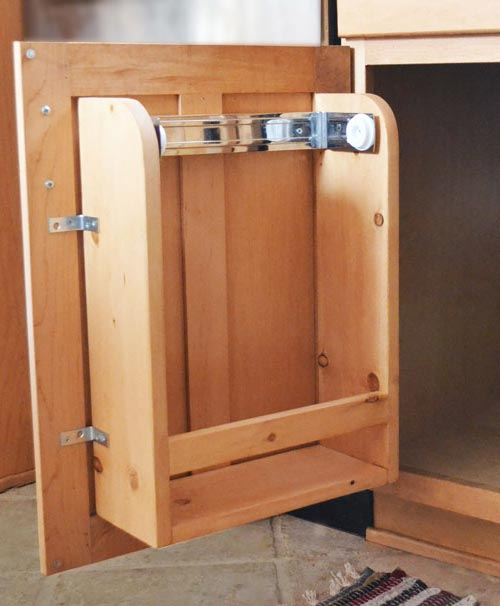Rv Cabinet Storage Door With Paper Towel Holder And Shelf