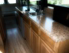 Interior Class B Remodel: New Kitchen, Flooring & Screen Door