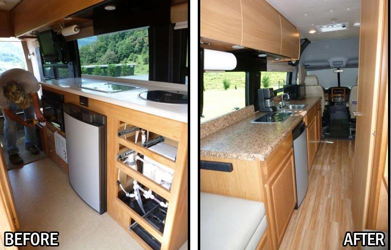 Interior Class B Remodel New Kitchen Flooring Amp Screen Door