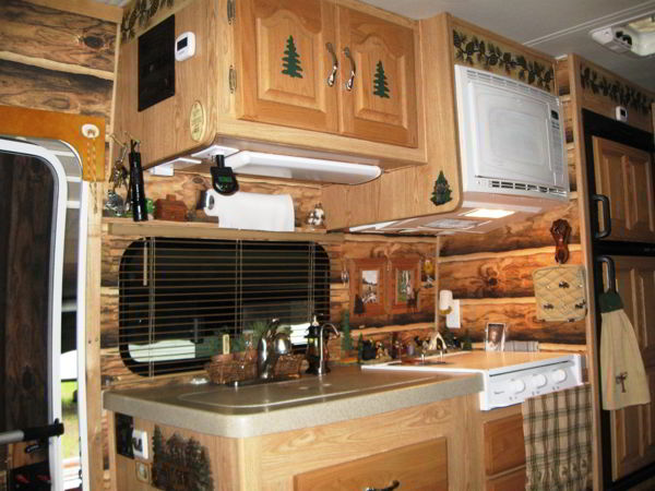 Couple Gets Closer To Nature With A Custom Log Cabin Interior