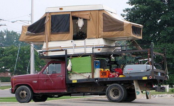 Truck Bed Camper Moving Wheels