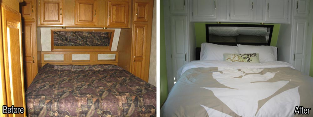 Paint and rv decorating can turn the ordinary to extraordinary - Trailer bedroom ideas ...
