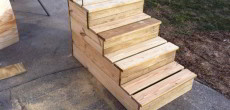 Unique Wooden Portable Steps for Your RV