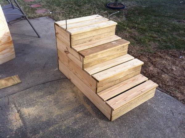 ... Plan: How To Build Free Standing Wooden Steps – Woodworking Projects