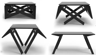 Ingenious Transforming Table: For Coffee or Dining, It Can Handle It All