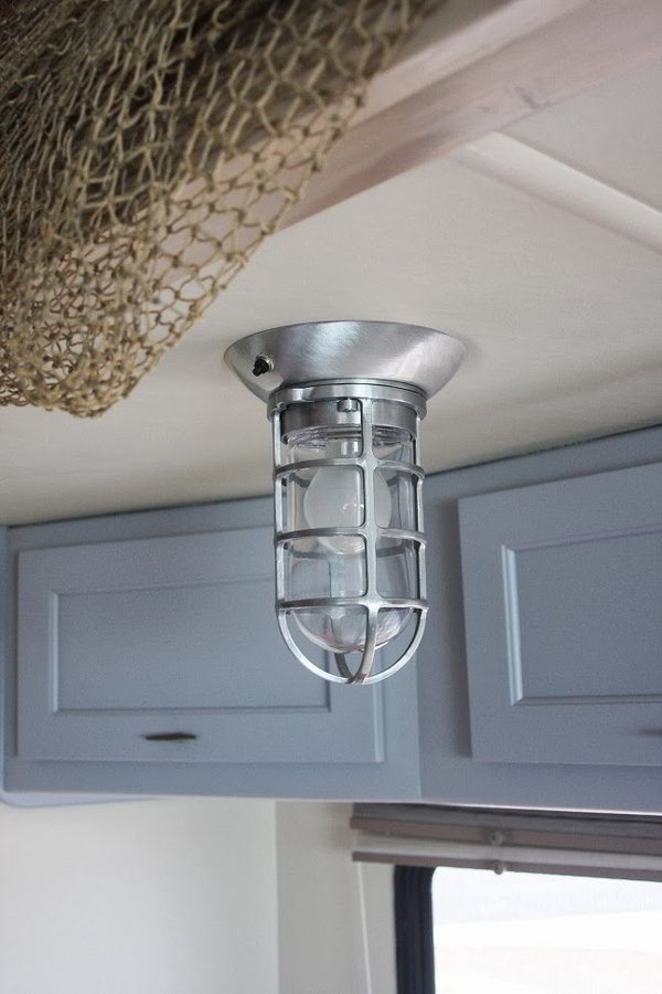 Rv Interior Wall Sconces : A Beach RV Interior for The Beach Bum in All of Us