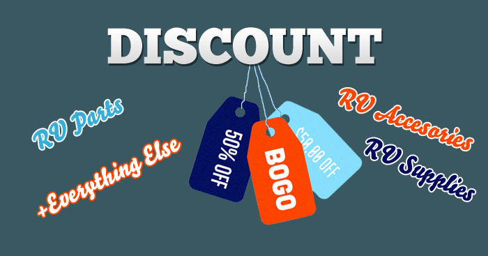 Get Discount RV Parts, Supplies, Accessories and Anything at a Bargain