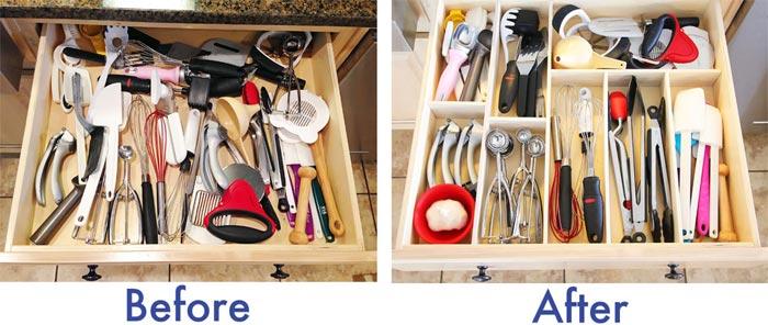 DIY RV Kitchen Drawer Organizers For $10
