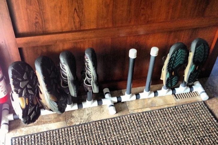 25 Rv Shoe Rack From Pvc Keep Things Tidy Around The