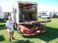Custom Toy Hauler From a Cargo Box and Tractor Trailer