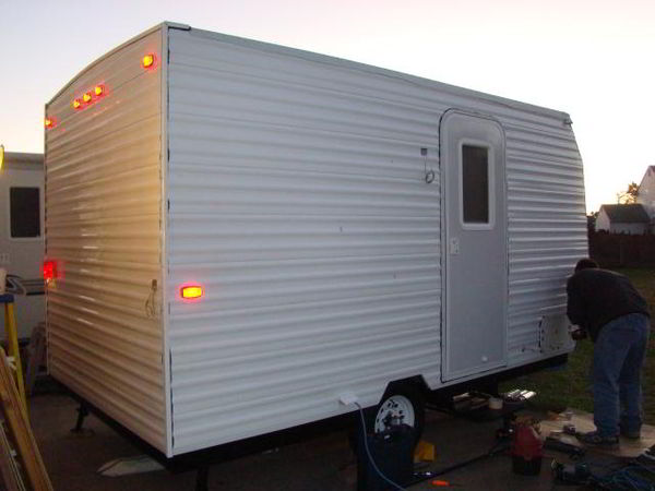 Diy camper trailer built from an old pop up on a budget of Make your own trailer house