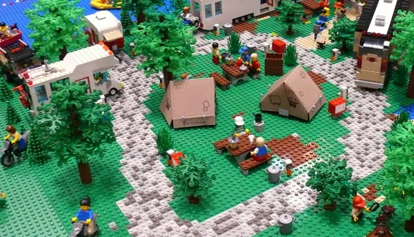 A Serene Beachside Rv Park Or A Lego Rv Collection