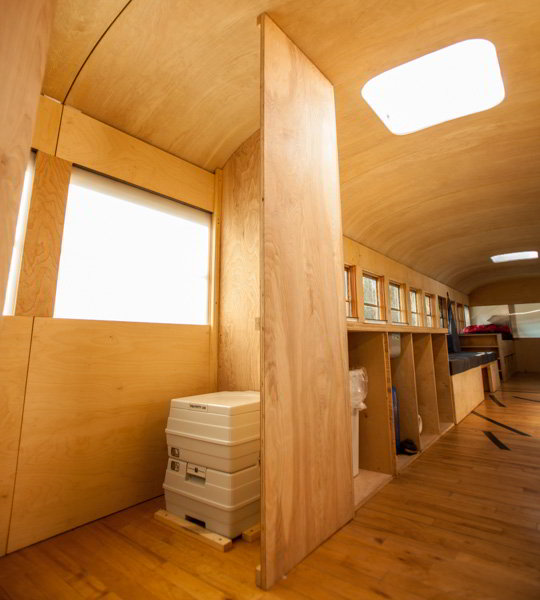 Student Completes Amazing Minimalist School Bus Conversion