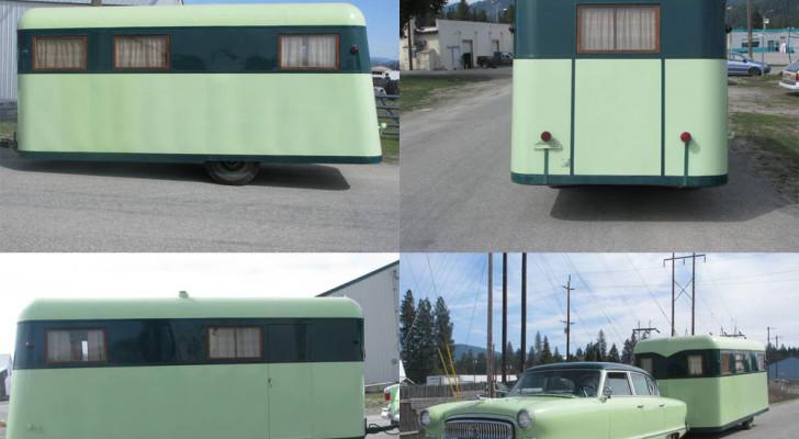 1939 Covered Wagon Company Trailer and Matching 1954 Nash Custom