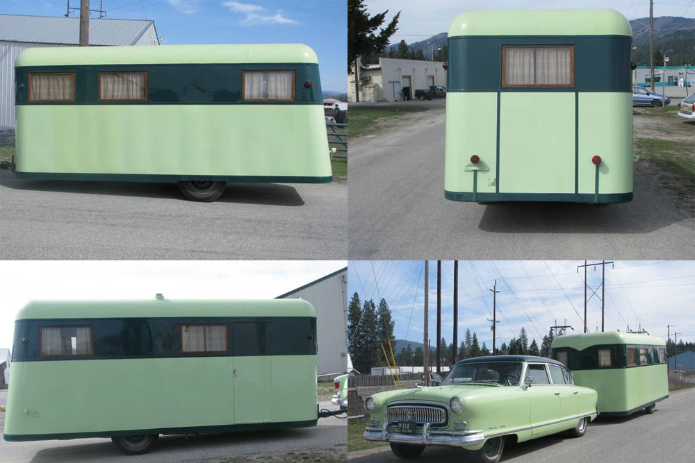 1939 Covered Wagon Company Trailer And Matching 1954 Nash