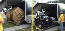 HDT Truck RV With Car Storage: Unique Way to Take a Car Along