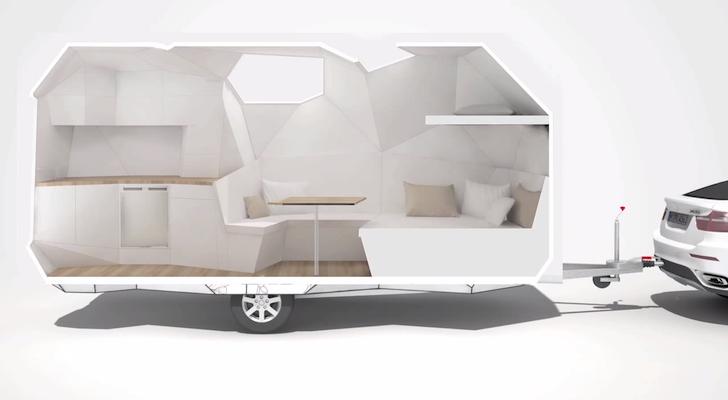 Mehrzeller RV Concept Turns a Travel Trailer Into A Cut Gemstone
