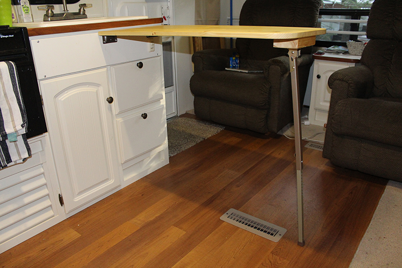 Rv Countertop Options : How to Add 36 Inches To Your Too-Small RV Kitchen Countertop