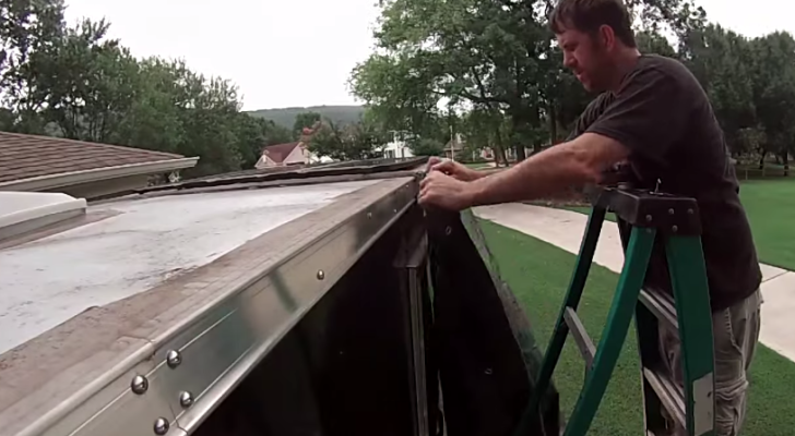Cheap and Easy DIY Awning With Supplies From Harbor Freight