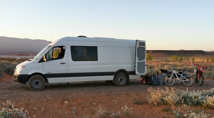 This Creative Man Made a Custom Toy Hauler From a 2011 Mercedes Sprinter Van.