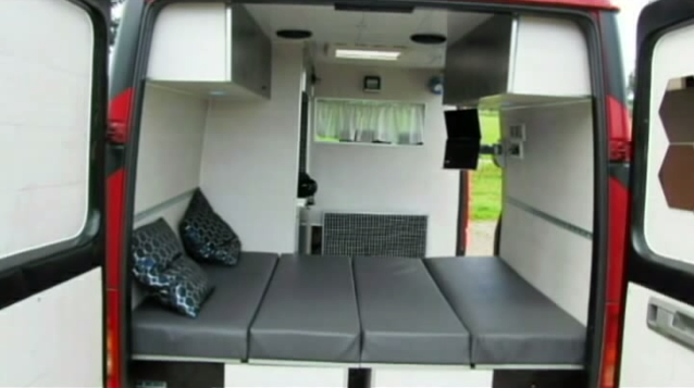 This Man Converted a Plain Looking Volkswagen Work Van Into a Stylish and Functional Home on Wheels.