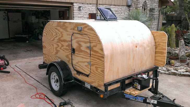 This Man Built A Homemade Tear Drop Camper By Himself