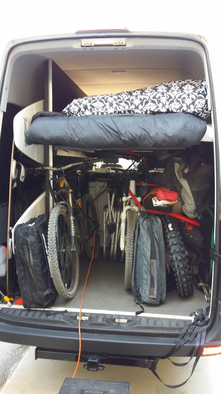 Custom Toy Hauler Made From A 2011 Mercedes Sprinter Van